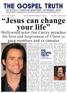 Jim Carrey - Shares his gospel