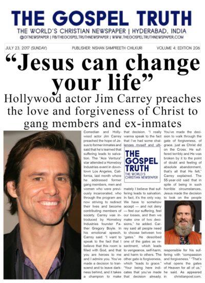 Jim Carrey - Shares his gospel
